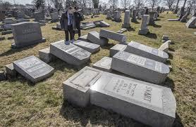 cemetery headstones philadelphia investigate reprehensible toppling of 100