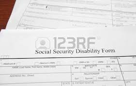 denied social security disability application form stock photo