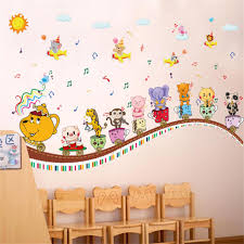 removable cartoon animal music concert wall stickers hot sells removable cartoon animal music concert wall stickers hot sells wall decals animals home decorations removable wall stickers 60x90cm pc mirror wall decals