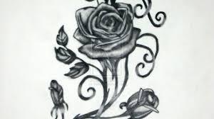 rose vine drawing designs gothic rose vine tattoo black rose