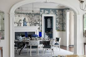 classic and pretty blue and white rooms by a connecticut designer