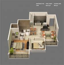 bedroom house plans luxihome sq ft indian style with covered back