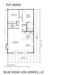 one story log home floor plans one story log homes blue ridge log homes 540 337 0033