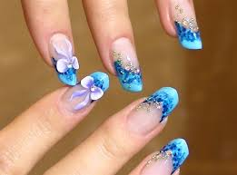 new bow nail art blue designs for girls nail designs pinterest