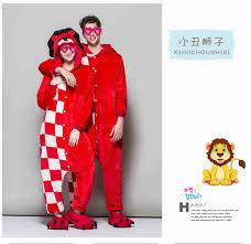 Ladies Clown Halloween Costumes Aliexpress Buy 2017 Clown Lion Cartoon Tai Pajamas