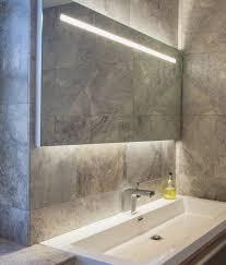 Lit Bathroom Mirror Amusing Lighted Bathroom Mirror On Modern Excellent Led Wall