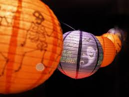 halloween paper lanterns halloween string lights ideas