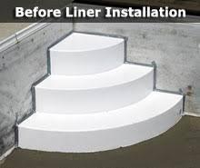 wedding cake pool steps central pools and spas inground pool vinyl liner replacements