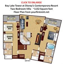 large families at disney world yourfirstvisit net floor plan two bedroom villa bay lake tower from yourfirstvisit net