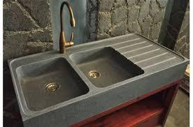 evier cuisine 120x60 120x60x17 évier cuisine granit 2 cuves égouttoir besso