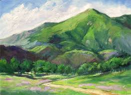 Impressionist Landscape Painting by California Mountain U2013 Impressionist Landscape Oil Painting By