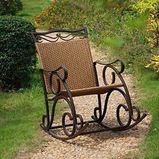 Resin Wicker Rocking Chair Wicker Rocker Home U0026 Garden Ebay