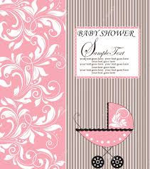 Babyshower Invitation Card Vintage Baby Shower Invitation Card With Ornate Elegant Retro