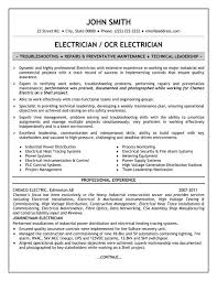 Job Description Resume Samples by Electrician Job Description Resume Recentresumes Com