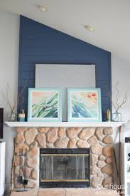 a coastal inspired spring fireplace mantel u2022 our house now a home