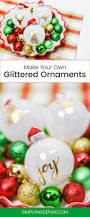diy glittered ornaments christmas ornament ornament and decoration