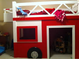 Fire Truck Bunk Bed Fire Truck Bed Drawers Plans Fun Themed Truck Bed Drawers Plans