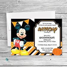 amazon com mickey mouse halloween party invitation halloween