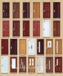 modern bedroom door design with solid wood infilling interior