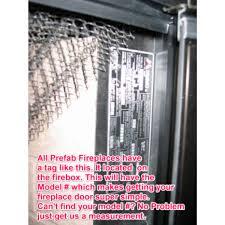 replacement glass doors forfmi fireplaces