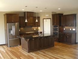 Natural Hickory Kitchen Cabinets by Dark Hickory Cabinets Bar Cabinet