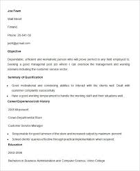 Resume Samples For Banking Sector by Bpo Resume Template U2013 22 Free Samples Examples Format Download