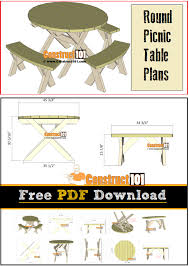 Free Large Octagon Picnic Table Plans Easy Woodworking Solutions by Round Picnic Table Plans Pdf Download Round Picnic Table