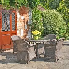round table marlow rd bridgman marlow 4 seat round rattan garden furniture set regatta