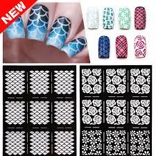 aliexpress com buy 1sheet new reusable stamping nail art hollow