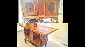 diy antique buffet to antique kitchen island youtube