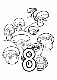 number 8 coloring pages for preschoolers counting numbers