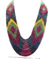sapphire beads necklace images Precious gemstone beads aquamarine round beads manufacturer from jpg