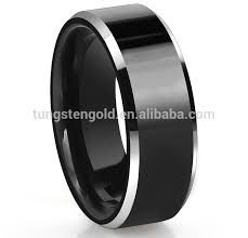 cincin tungsten carbide kustom logo ip berlapis superman hitam tungsten carbide cincin