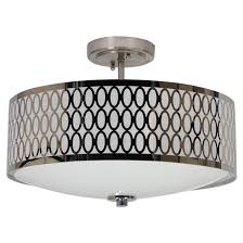 Rona Lighting Chandeliers 2 Light Semi Flush Ceiling Light Chrome Rona