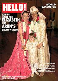Liz Hurley and Arun Nayar on the cover of the new Hello magazine Hello, India. - 20liz