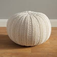 three posts gilmour hand knitted traditional pouf ottoman