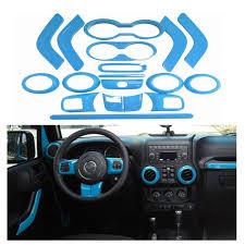 jeep blue interior 18pcs light blue full set interior decoration trim kit door handle
