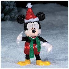 Outdoor Lighted Christmas Decorations Amazon by Seasonal Decor Christmas 2 U0027 Disney Mickey Mouse Santa Hat Lighted
