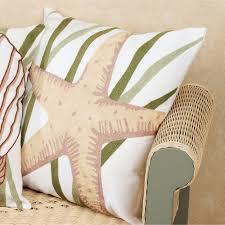 blue oasis coastal decorative pillows