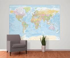 World Map Wallpaper by World Map Wallpaper Mural Wall Murals Ireland