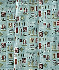 christmas shower curtain noel seasons greetings fabric bathroom