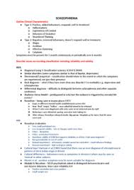 Psychology Unit   Schizophrenia Essay Plans   Document in A Level     Get Revising