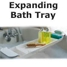 adjustable bathtub caddy expanding bath tray madesmart bath tub shelf adjustable plastic