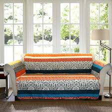 amazon com lush decor boho stripe slipcover furniture protector