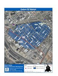Dart Map Cedars Tif District City Of Dallas Office Of Economic Development