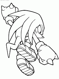 sonic coloring pages knuckles coloring home
