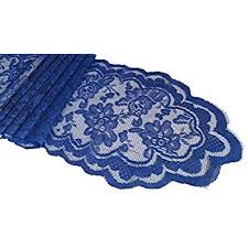 Navy Blue Lace Table Runner Amazon Com Goldstream Point Navy Blue 108 Inch X 9 Inch Lace