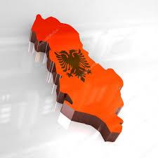 Map Of Albania 3d Flag Map Of Albania U2014 Stock Photo Fambros 3378115