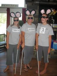 homemade three blind mice girls group halloween costume the girls