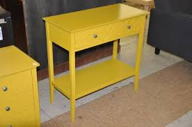 Yellow Accent Table Yellow Console Table Home Furnishings